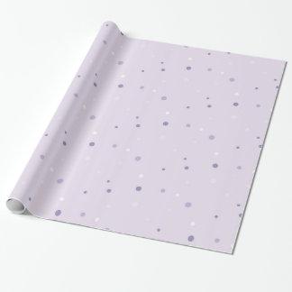 Schatten des lila Punktverpackungspapiers Geschenkpapier