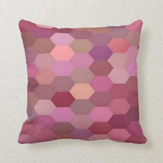 Schatten des rosa Hexagon-Kissens Kissen