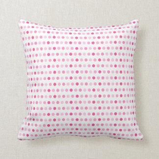 Schatten des rosa Punkt-Kissens Kissen
