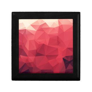 Schatten des roten geometrischen Musters Geschenkbox