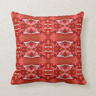 Schatten des roten modernen festlichen Entwurfs Kissen