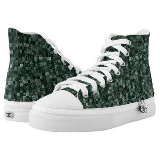 Schatten des tiefen bläulichen Grüns Hoch-geschnittene Sneaker