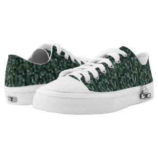 Schatten des tiefen bläulichen Grüns Niedrig-geschnittene Sneaker