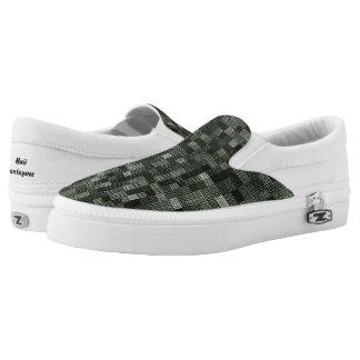 Schatten des tiefen düsteren Ozean-Grüns Slip-On Sneaker