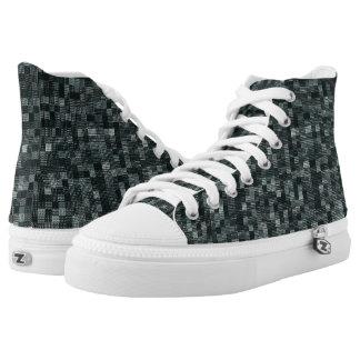 Schatten des tiefen Waldblaus Hoch-geschnittene Sneaker