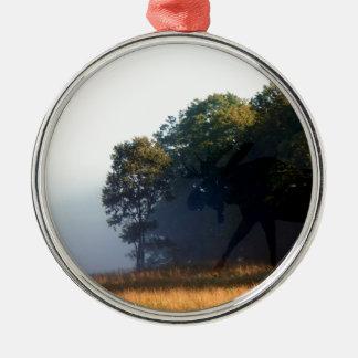 Schatten-Elche Silbernes Ornament