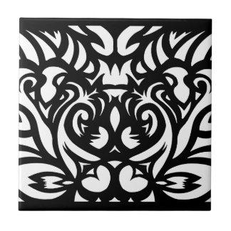 Schatten-geschnittenes Kunst-Deko-Designermuster Fliese