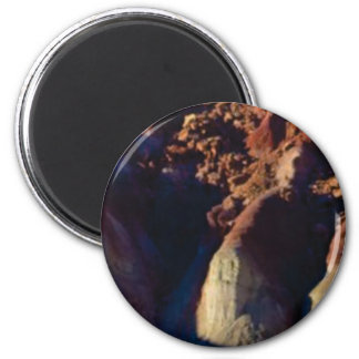 Schatten im Sandstein Runder Magnet 5,7 Cm