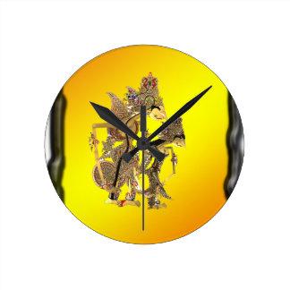Schatten-Marionetten indonesisch Uhr