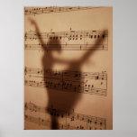 Schatten merkt Plakat
