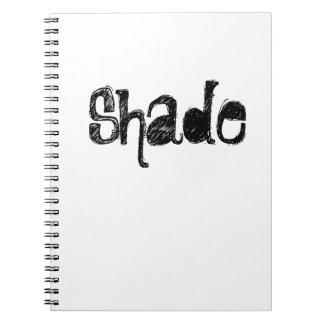 Schatten-Notizbuch Spiral Notizblock