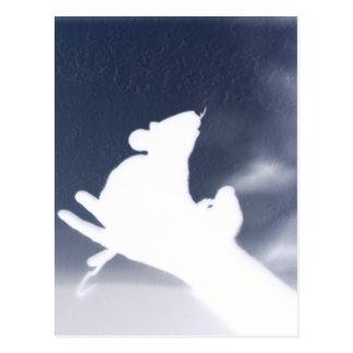 Schatten-Ratte Postkarte