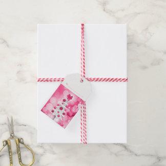 Schatten rosa Feiertags-des weißen Weihnachtsbaums Geschenkanhänger