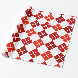 Schatten rote Rauten-des gemusterten Geschenkpapier