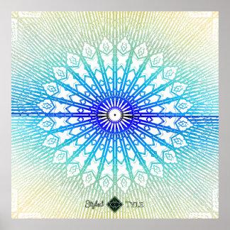 Schatten-Spiegel-Mandala (Regenbogen) Poster