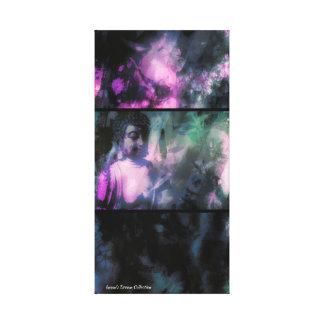 Schatten u. heller Buddha-Leinwand-Druck (lila Leinwanddruck