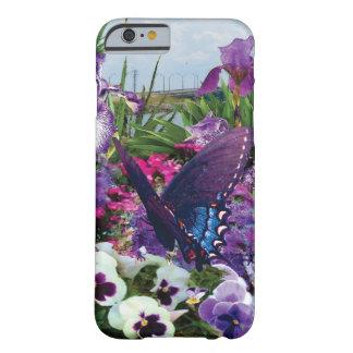 Schatten von Lila mit Schmetterlingstelefonkasten Barely There iPhone 6 Hülle