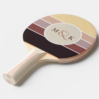 Schatten von Schokoladen-Farbpalette 001 Tischtennis Schläger