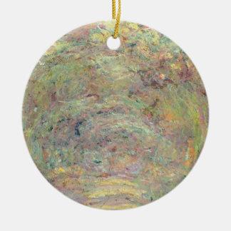 Schattierter Weg Claude Monets | Rundes Keramik Ornament