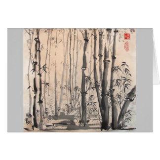Schattige Bambuswaldkarte Karte