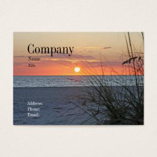 Schatz-Insel-Sonnenuntergang-Visitenkarte Jumbo-Visitenkarten