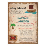 Schatz-Karte, Piraten-Thema-Geburtstags-Party Einladungskarten