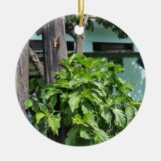 Schatz-Nostalgie heute in Kuba-Telefonzelle Rundes Keramik Ornament