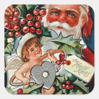 Schatz-Tagesweihnachten Quadratischer Aufkleber
