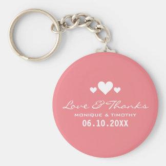 Schatz-weiche rosa Hochzeit danken Ihnen Schlüsselanhänger
