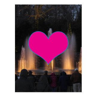 Schatz-Werbegeschenk-Geschenk-lila Schablone Postkarte