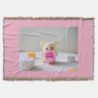 Schatzbärn-Valentinstag Soulmate-Rosasüßigkeit Decke