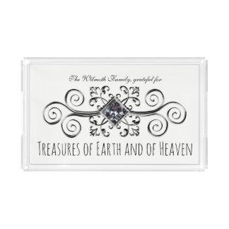 Schätze von Erde und von Himmel Ihr Name Acryl Tablett