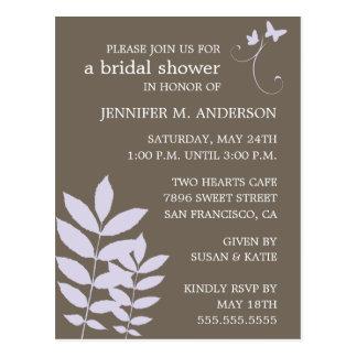 Schätzen-Brautduschen-Einladung Postkarte