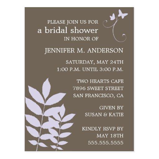 Schätzen-Brautduschen-Einladung Postkarten