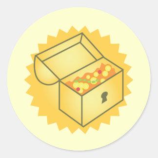 Schatztruhe Runder Sticker