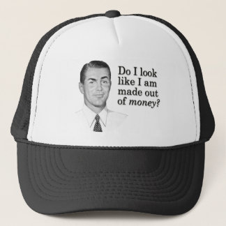 Schaue ich, wie ich aus Geld heraus gemacht werde? Truckerkappe