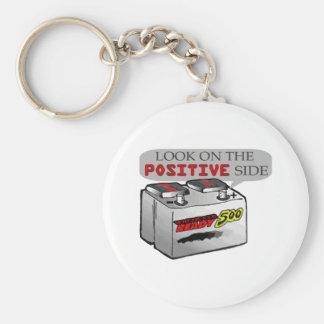 Schauen Sie auf positiver Seite Schlüsselanhänger