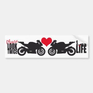Schauen Sie bitte zweimal • Retten Sie einen Leben Auto Sticker
