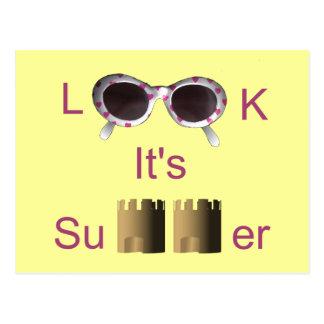 Schauen Sie es ist Sommer Postkarte