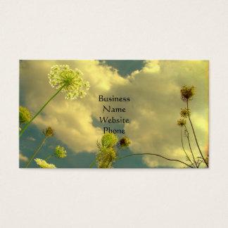 Schauen Sie oben zur Natur Visitenkarte