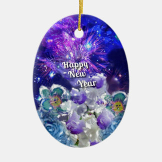 Schauen Sie, wie fantastisch das neue Jahr seien Keramik Ornament