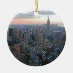 Schauen Süd von der Spitze des Felsens New York Ci Weinachtsornamente