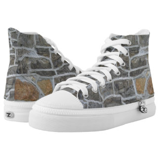 Stone Looking Hi Tops