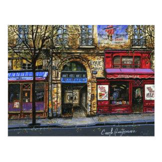 Schaufenster in mini sammelbaren Drucken Paris Postkarte