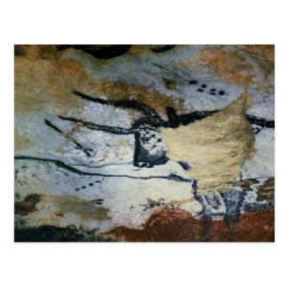 Schaukeln Sie Malerei eines Stiers mit langen Postkarte