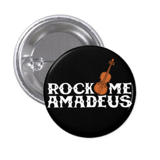 Schaukeln Sie mich Amadeus Retro Flair-Knopf Runder Button 3,2 Cm