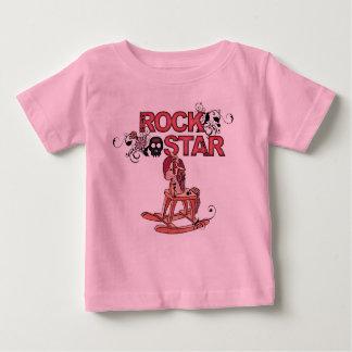 Schaukelpferd-Babyt-stück des Rockstars lustiges Baby T-shirt