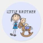Schaukelpferd-kleiner Bruder-T-Shirts Runde Sticker
