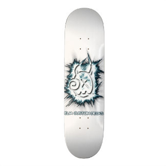 Schaumige Logoweißplattform 18,4 Cm Mini Skateboard Deck