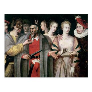 Schauspieler der Commedia dell'Arte Postkarte